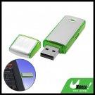 Green Pocket Aluminium USB Flash Memory Stick Drive Storage 4GB