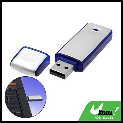 Blue Pocket Aluminium USB Flash Memory Stick Drive Storage 2GB