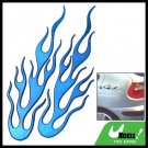 Blue 3D Fire Flame Stickers Decal Pair for Car Auto