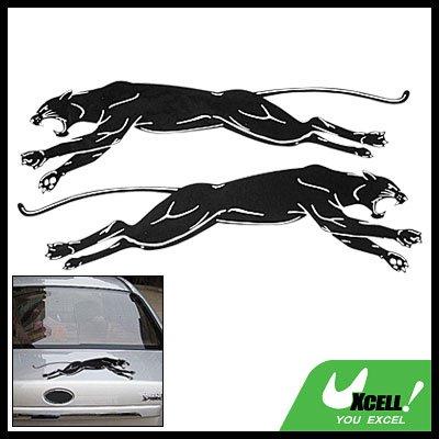 Black Leopard Car Racing Logo Decorative Decal Sticker