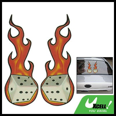 Fire Dice Vinyl Car Boat Vehicle Window Decal Sticker