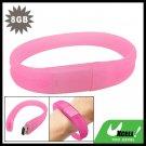 8GB Pink Bracelet Wrist Band USB Drive Flash Memory Stick