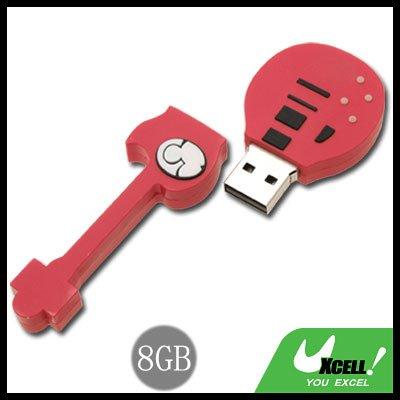 Rock Guitar USB 8GB Red Flash Memory Stick Drive Disk