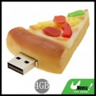 Cool-Look Pizza USB 2.0 4GB Flash Memory Storage Stick Drive