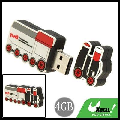 Cool-Look Small Train USB 2.0 4GB Flash Memory Stick Drive
