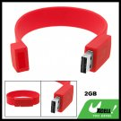 2GB Hot Red Bracelet Wrist Band USB Drive Flash Memory Stick