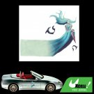 Vinyl Long Hair Girl and Fish Pattern Decal Sticker Car Auto Truck