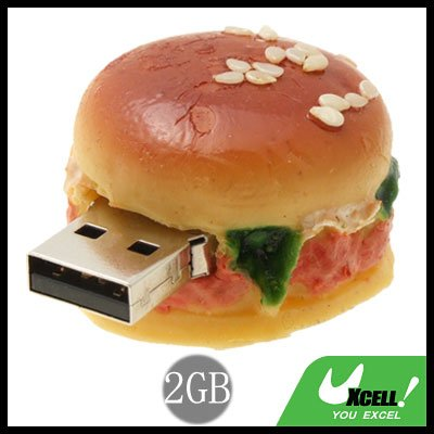 Hamburger USB 2GB Flash Memory Storage Stick Drive