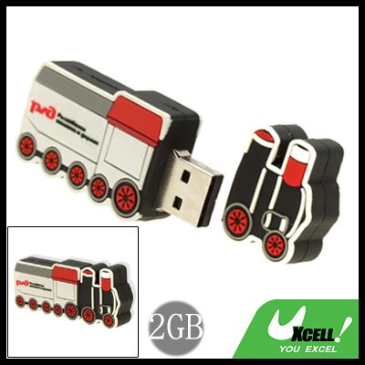 Cool-Look Small Train USB 2.0 2GB Flash Memory Stick Drive