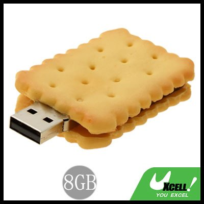 Biscuit USB 8GB Flash Memory Storage Stick Drive