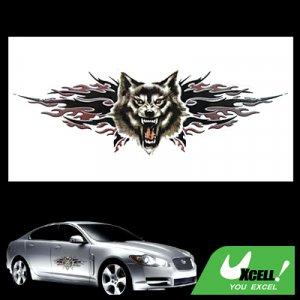wolf graphics auto motor decal car truck window sticker. Black Bedroom Furniture Sets. Home Design Ideas