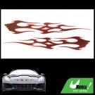 Red Fire Auto Motor Decal Car / Truck Window Sticker