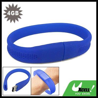 4GB Bracelet USB Drive Flash Memory Stick Blue