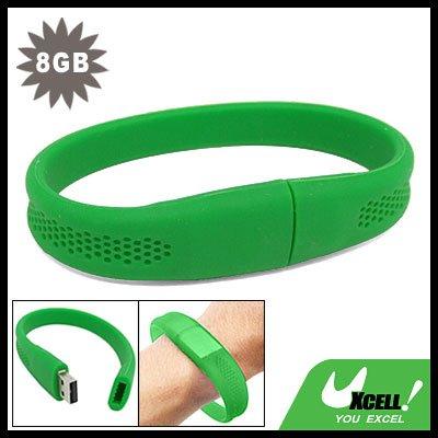 8GB Green Bracelet Wrist Band USB Drive Flash Memory Stick