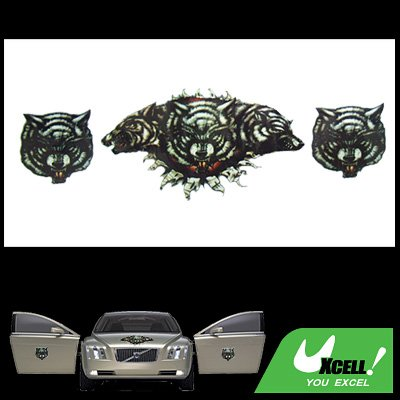 Cool Wolf Pattern Car Decor Decal Sticker