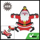 USB 2.0 4GB Jumping Santa Claus Drive Flash Memory Stick