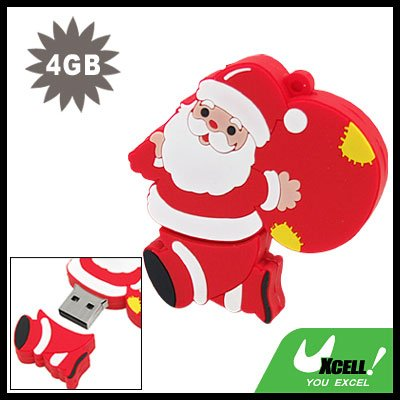 Happy Santa Claus 4GB USB 2.0 Flash Drive Memory Pen Stick