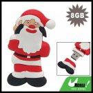 Double-Face Santa Claus 8GB USB 2.0 Flash Drive Memory Stick