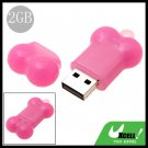 USB 2.0 Pink Bone 2GB Flash Driver Memory Stick