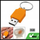 8GB Yellow Keyring Portable USB Flash Memory Stick