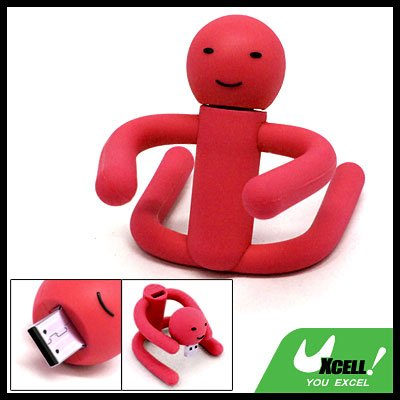 Moppet Design Flexible 2GB USB Flash Drive Memory Stick