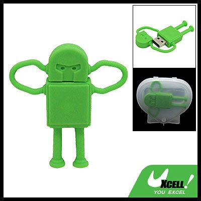 2GB Robot USB Flash Drive Memory Stick Storage Device