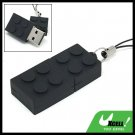 Black Brick 2GB USB Flash Memory Stick Drive