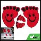 Red Footprint Vinyl Decal Car Vehicle Window Sticker