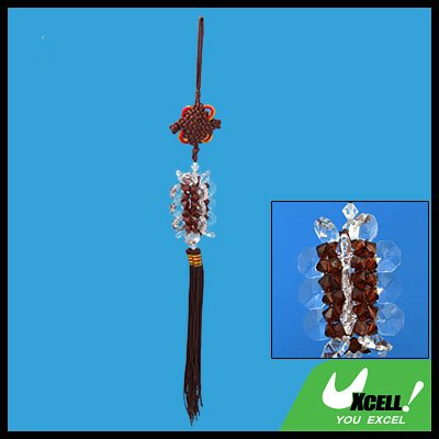 Coffee Chinese Knot Oriental Ornament Crystal Decoration