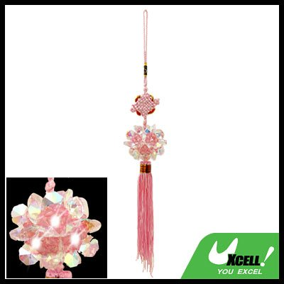 Embroidery Chinese Knot Oriental Ornament Crystal Pendant