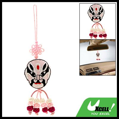 Opera Face Mask Embroidery Chinese Knot Oriental Ornament
