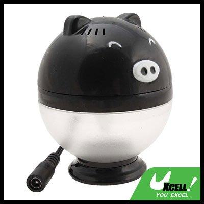 Car USB Oxygen Ion Air Freshener Purifier Filter  Black Pig