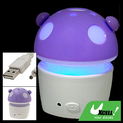 Violet Fanning Scent Mushroom Car Indoor Air Purifier Refresher