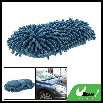 Vehicle Car Windows Gadgets Blue Soft Microfiber Chenille Sponge Cleaning Brush
