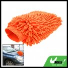 Orange Microfiber Car Washing Cleaning Glove Wash Mitt