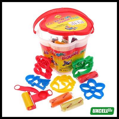 24 Colors Play Dough Set Kids Fun Arts Crafts