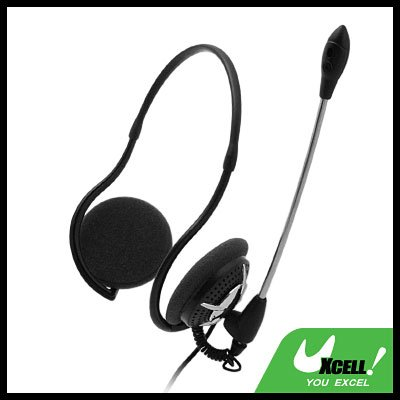 3.5mm Stereo PC Computer Headset Headphone Microphone