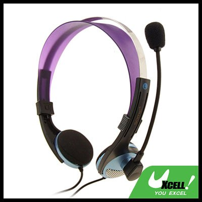 3.5mm PC Computer Headset Headphone Microphone Sky Blue
