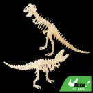 DIY Toy Dinosaur Woodcraft Construction Kit Model