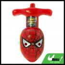 Funny Electronic Colorful Flashing Light Red Spider Peg-Top Toy