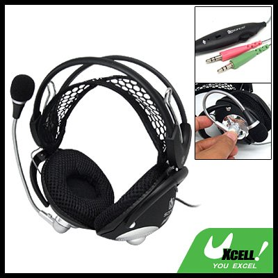 Stereo PC Computer Headphone Headset Mic Net Headband