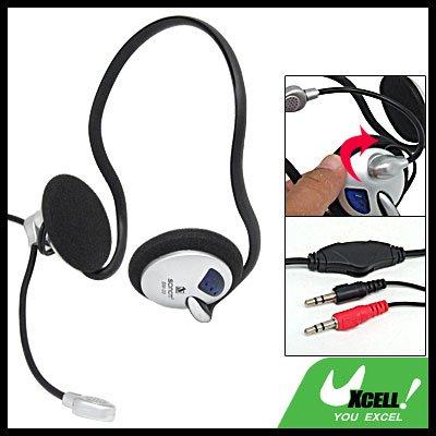 Slim PC Computer Stereo Headphone Headset Mic for Skype