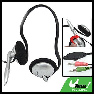 Overhead Stereo PC Computer Headphone Headset with Mic
