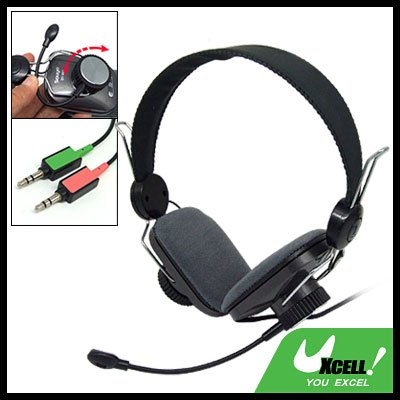 Stereo Headphone with Microphone for PC Computer Laptop