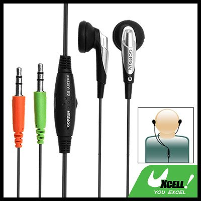 3.5mm Volume Control Earphone Microphone for PC Computer