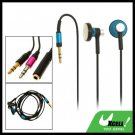 3.5mm Stereo Earphone with Adapter Cable for MP3 MP4 PC