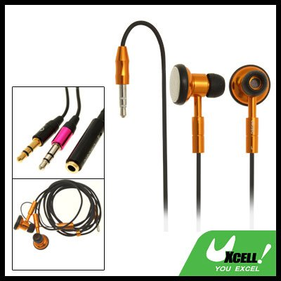 Stereo Necklace Earphone with 3.5mm Plug for PC MP3 MP4