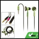 Necklace Style MP3 MP4 PC Stereo Earphone w/ 3.5mm Plug