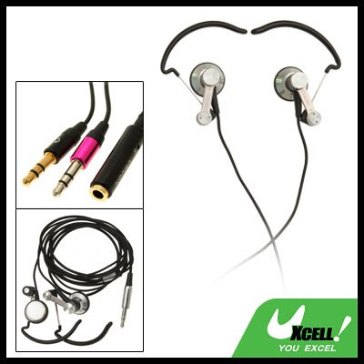 3.5mm Stereo Sports Earphone with Ear-Hook for MP3 MP4 PC