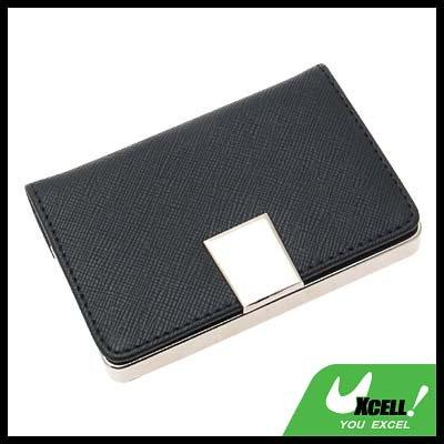 Black Graceful Leather Business Card Holder / Credit Card Case